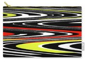 Black Yellow Red White Abstract Carry-all Pouch