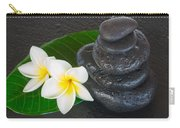 Black Zen Stones Carry-all Pouch