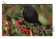 Blackbird Red Berries Carry-all Pouch