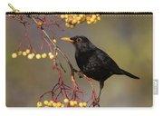 Blackbird Yellow Berries Carry-all Pouch