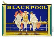 Blackpool, England - Retro Travel Advertising Poster - Three Fashionable Women - Vintage Poster -  Carry-all Pouch
