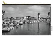 Black And White Oceanside California Marina  Carry-all Pouch