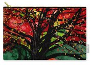 Blazing Red Orange Autumn Tree Carry-all Pouch