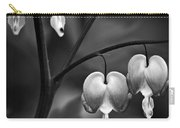 Bleeding Hearts In Bw Carry-all Pouch