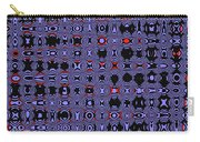 Bllue And Black Abstract #4 Carry-all Pouch