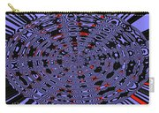 Blue Black Red Abstract Carry-all Pouch