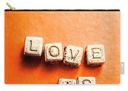 Block Quotes On Love Is All  Carry-all Pouch