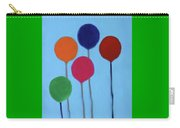 Blocks And Balloons Carry-all Pouch by Deborah Boyd
