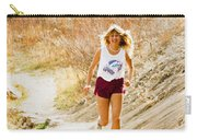 Blond Woman Trail Runner Carry-all Pouch