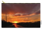 Blood And Gold In The Road Sunset At Portmahon Delaware Carry-all Pouch