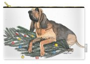 Blood Hound Christmas Carry-all Pouch