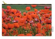 Bloom Red Poppy Field Carry-all Pouch
