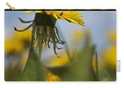 Blooming Dandelion Flower Carry-all Pouch