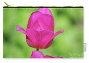 Blooming Dark Pink Tulip Flower Blossom In A Garden Carry-all Pouch