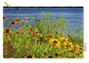 Blooming Flowers By The Bridge At The Straits Of Mackinac Carry-all Pouch