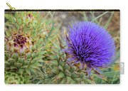 Blooming Purple Teasel Carry-all Pouch
