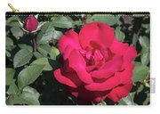 Blooming Rose With New Rose In Garden Carry-all Pouch