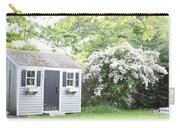 Blooming Tree Next To Shed Carry-all Pouch