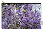 Blooming Tree With Purple Flowers Carry-all Pouch