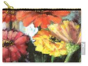Blooming Zinnias Carry-all Pouch