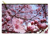 Blossoms Art Blue Sky Spring Tree Blossoms Pink Giclee Baslee Troutman Carry-all Pouch