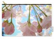Blossoms Art Prints 52 Pink Tree Blossoms Nature Art Blue Sky Carry-all Pouch