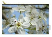 Blossoms Art Prints Whtie Spring Tree Blossoms Blue Sky Baslee Carry-all Pouch