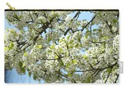 Blossoms Whtie Tree Blossoms 29 Nature Art Prints Spring Art Carry-all Pouch