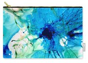 Blue Abstract Art - A Calm Energy - By Sharon Cummings Carry-all Pouch