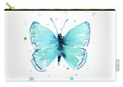 Blue Abstract Butterfly Carry-all Pouch
