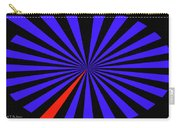 Blue And Black Abstract # 3 Carry-all Pouch