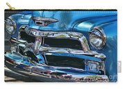 Blue And Chrome Chevy Pickup Front End Carry-all Pouch