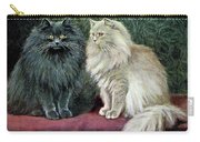 Blue And Cream Persians Carry-all Pouch