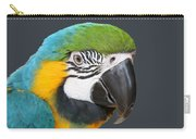 Blue And Gold Macaw Digital Freehand Painting Carry-all Pouch