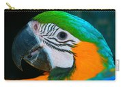Blue And Gold Macaw Headshot Carry-all Pouch