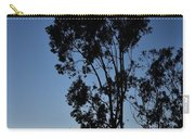 Blue And Gold Sunset Tree Silhouette I Carry-all Pouch