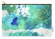 Blue And Green Abstract - Imagine - Sharon Cummings Carry-all Pouch
