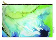 Blue And Green Abstract - Land And Sea - Sharon Cummings Carry-all Pouch