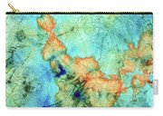 Blue And Orange Abstract - Time Dance - Sharon Cummings Carry-all Pouch