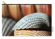 Blue And Orange Seashells Carry-all Pouch