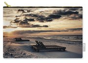 Blue And Orange Sunrise On The Beach Carry-all Pouch