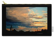 Blue And Orange Sunset Carry-all Pouch