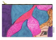 Blue And Pink Hat Carry-all Pouch