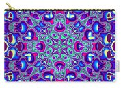 Blue And Pink Wallpaper Fractal 71 Carry-all Pouch