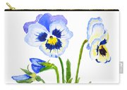 Blue And Purple Pansies  Carry-all Pouch
