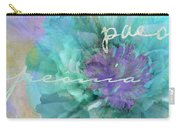 Blue And Purple Peony Carry-all Pouch
