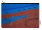 Blue And Red Abstract Carry-all Pouch