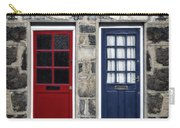 Blue And Red Doors Carry-all Pouch