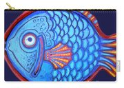 Blue And Red Fish Carry-all Pouch