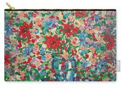Blue And Red Flowers. Carry-all Pouch